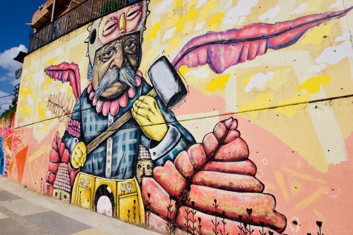 Kolumbien_Merida_Comuna 13_Street Art_Pablo Escobar - 1