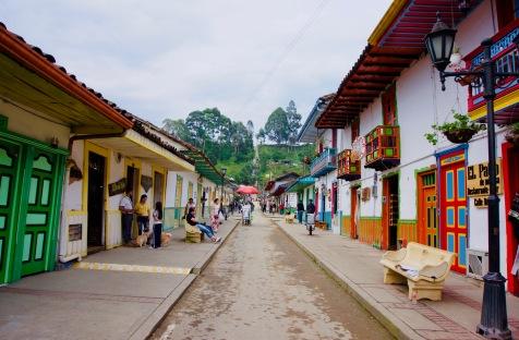 Kolumbien_Salento_Straße - 1
