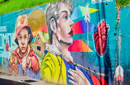 Kolumbien_Medellin_Comuna13_Streetart_Kind - 1