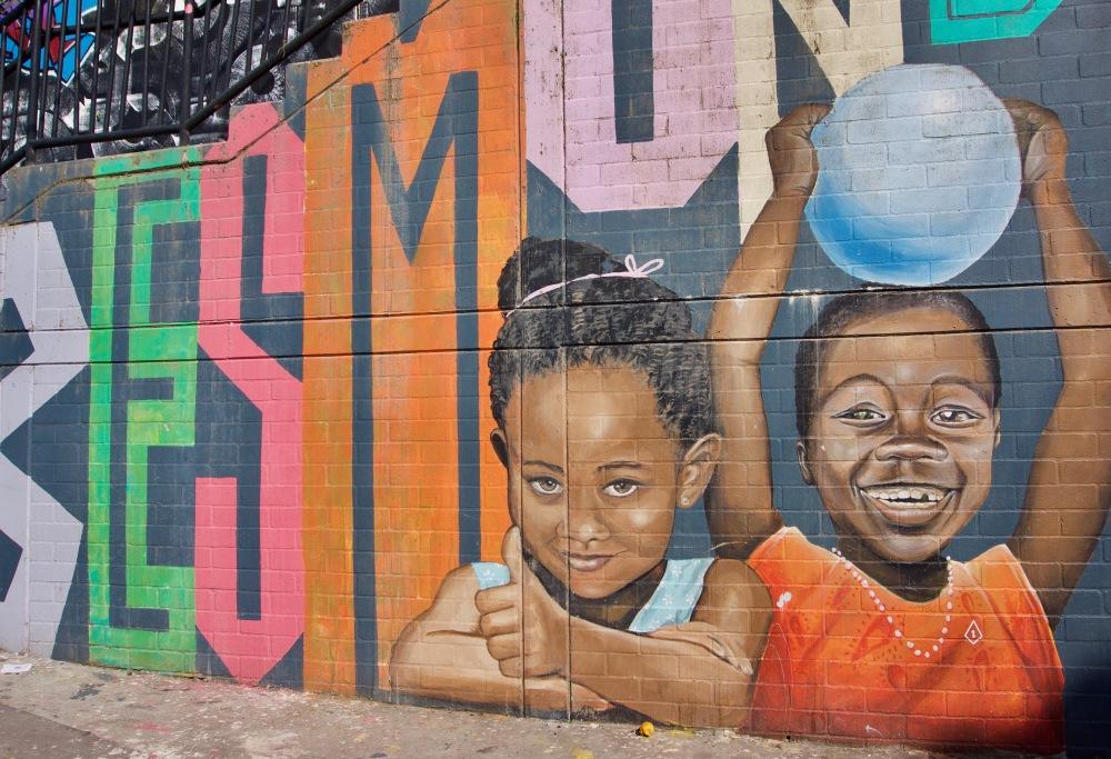Kolumbien_Medellin_Comuna13_Streetart_Kinder - 1
