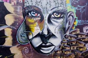 Kolumbien_Medellin_Comuna13_Streetart_Mural - 1